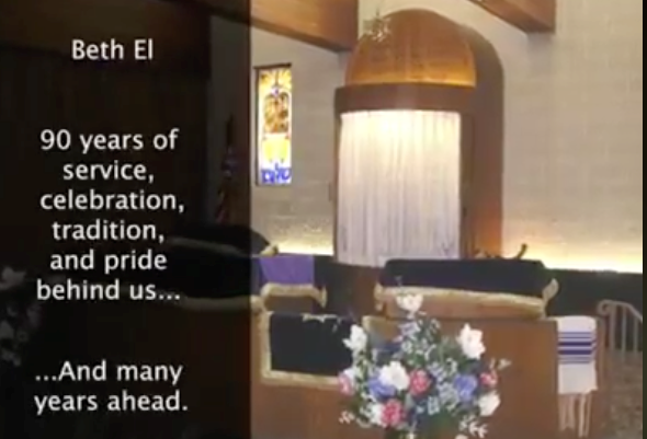 Link to a video celebrating Beth El's 90th Anniversary